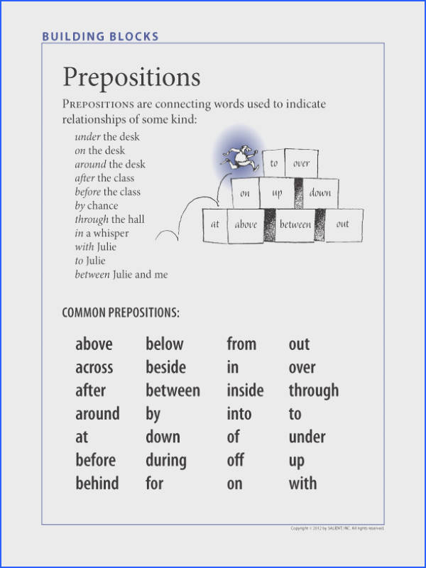 FREE Understanding prepositions—and prepositional phrases