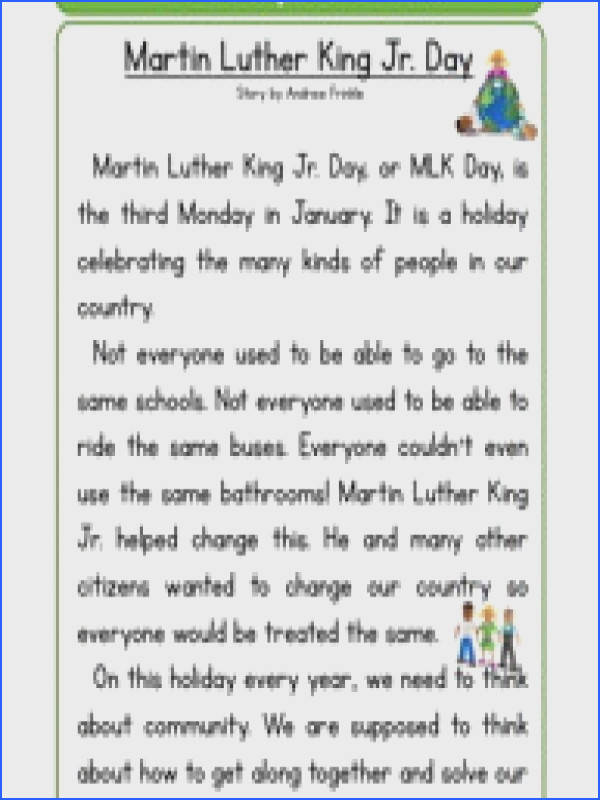 Free Worksheets printable martin luther king jr worksheets Martin Luther King Jr Worksheets