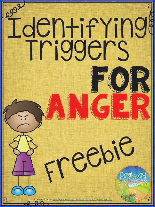 Free worksheets to help identify triggers for anger Great anger management freebie