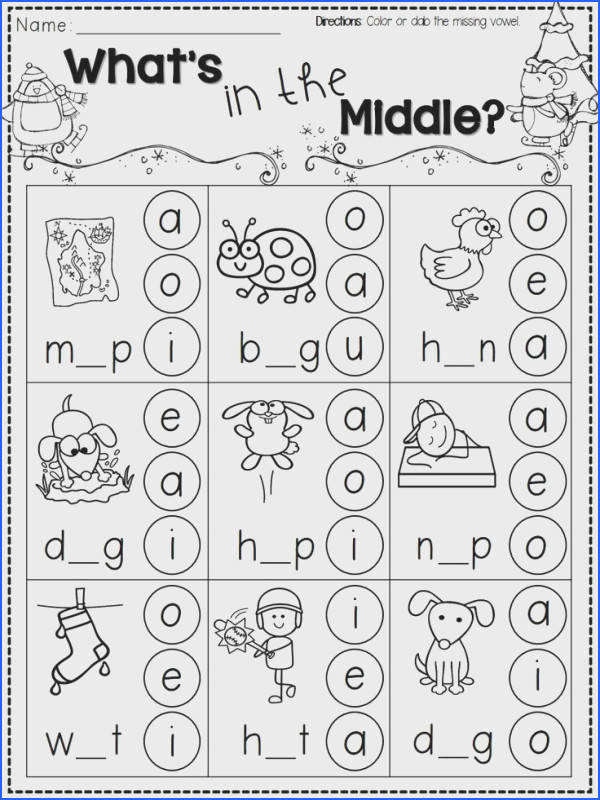 FREEBIE Over a dozen winter themed printable pages for Kindergarten Includes pages for