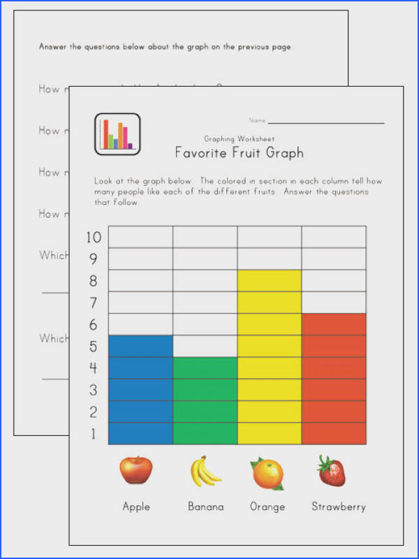 fruit graphing worksheet