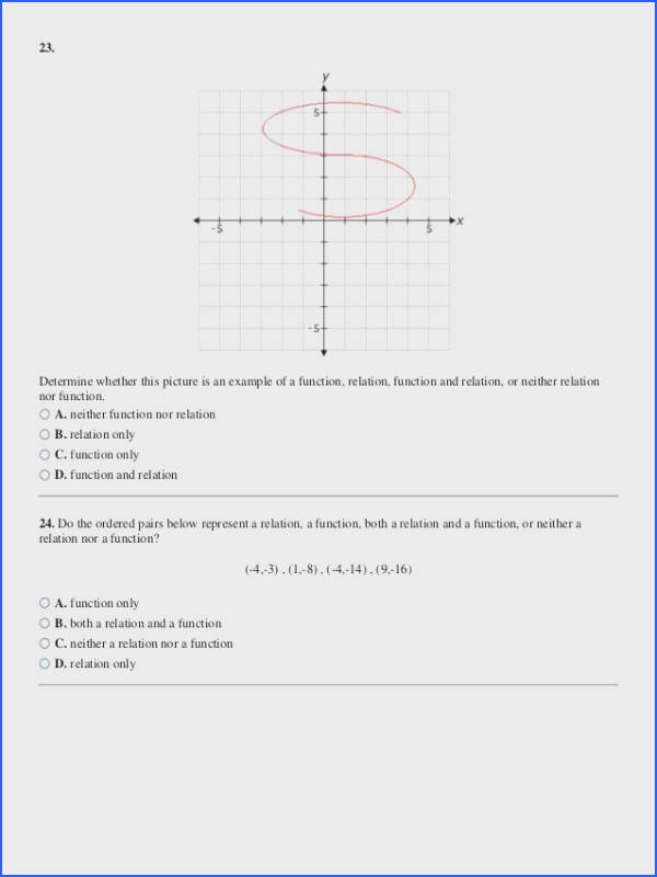 Function or Not A Function Worksheet with Answers Best Relations and Functions Worksheet Pics