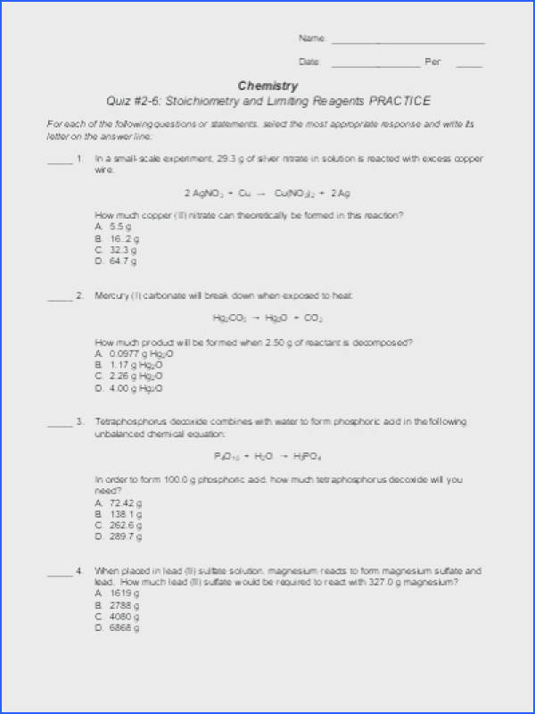 stoichiometry worksheet 2 answers to her with 2 source a worksheet mass mass limiting reagents stunning stoichiometry