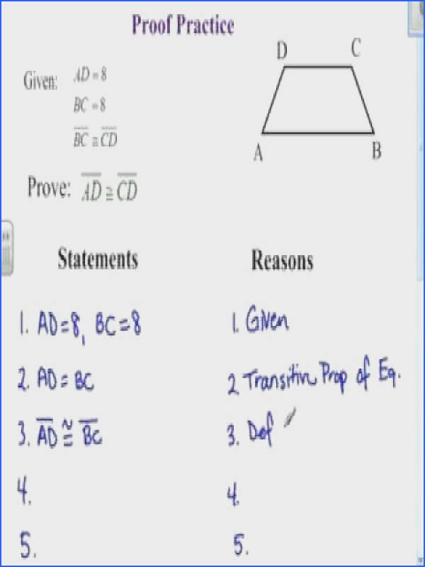 Geometric Proofs Worksheet With Answers Worksheets for all Download and Worksheets
