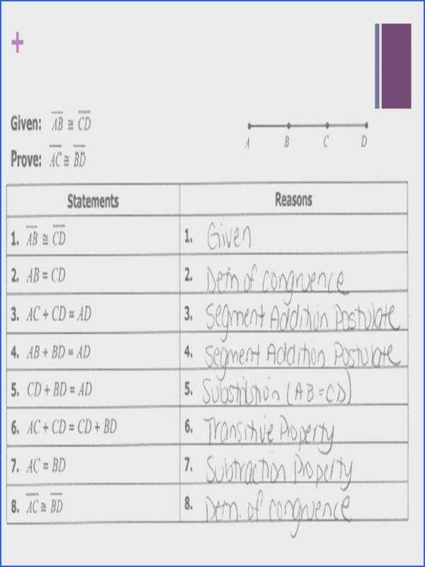Geometric Proofs Worksheet With Answers