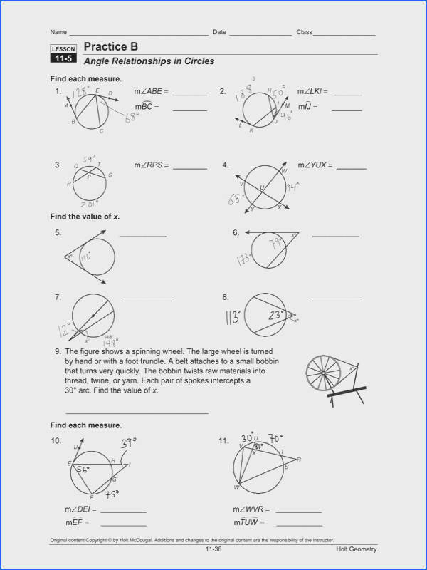 Geometry Segment and Angle Addition Worksheet Answers New Angles In A Circle Worksheet Worksheets for All
