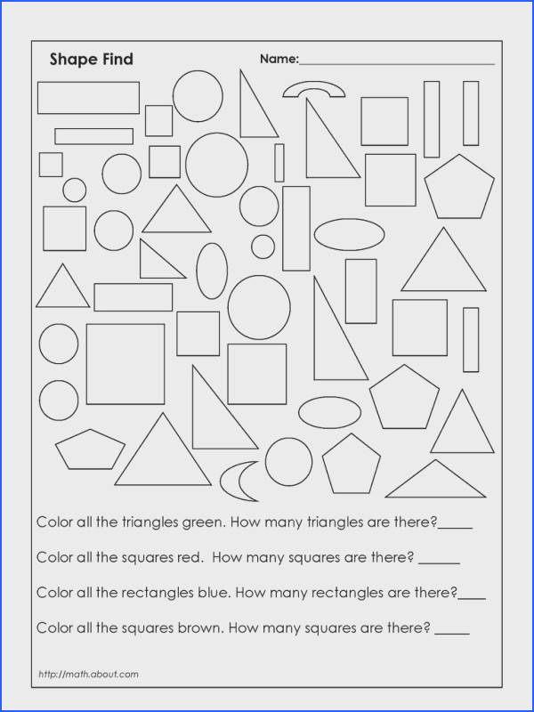 Color and Count Worksheet 4