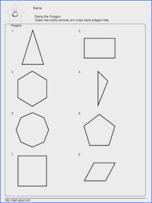Find the Perimeter Worksheet Name the Polygons