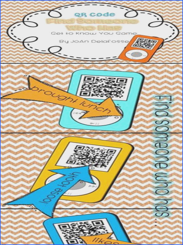Back to School Find Someone Who Get to Know You Game QR Codes