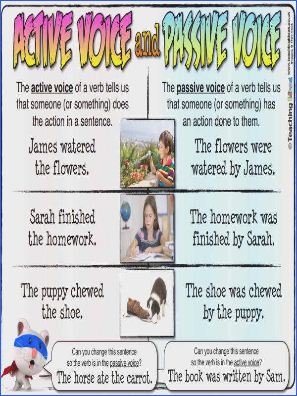 Active and passive voice with example Active Vs Passive Voice in Essays