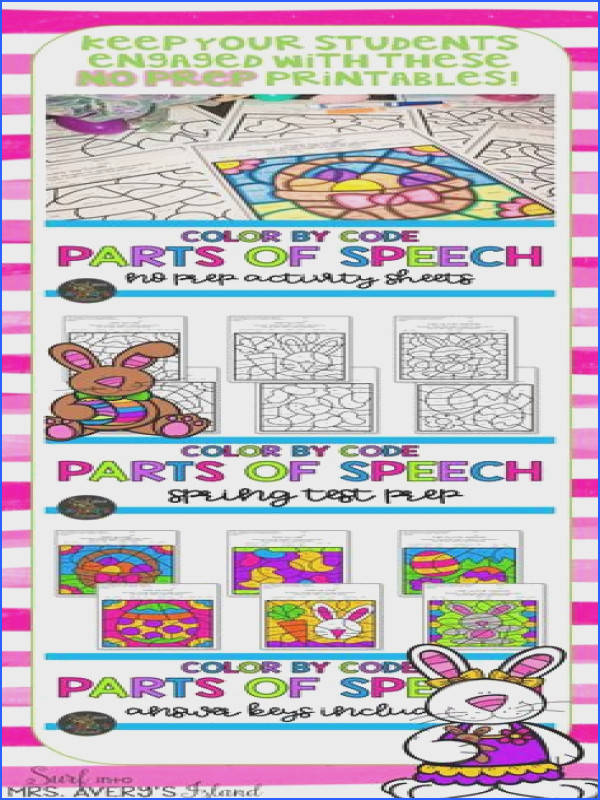 These Easter themed parts of speech worksheets are perfect activities for your literacy centers morning work test prep bellringers fast finisher