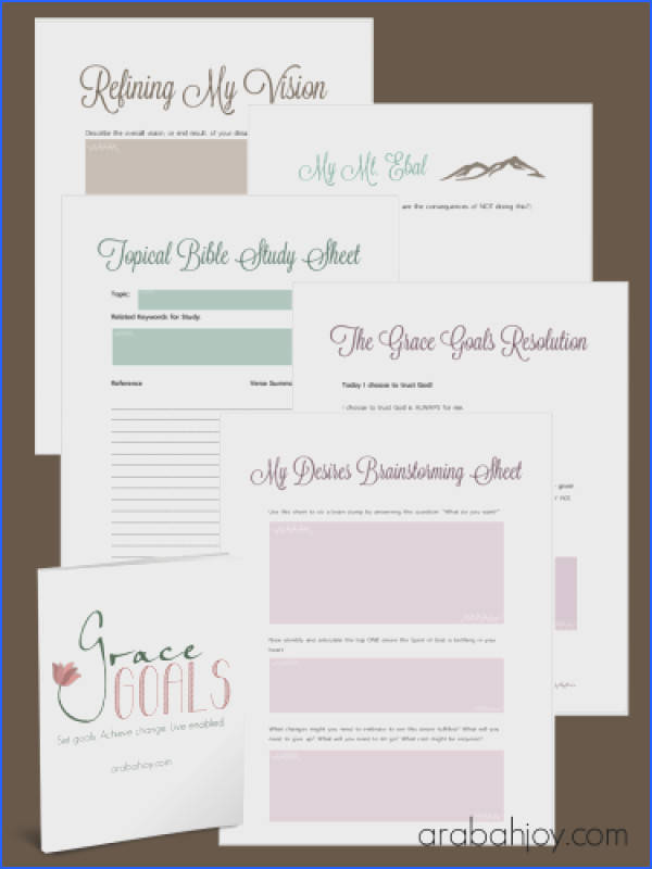 Grab your goal setting worksheets here Grace Goals is a revolutionary way to set goals