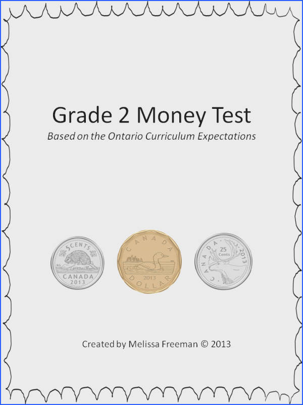 This 3 page Canadian money test covers adding coins making different money…