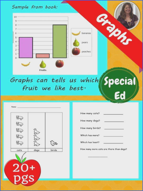 The book has lots of examples of bar graphs and questions to ask when interpreting graphs There are 5 worksheets Each worksheet is 2 pages with