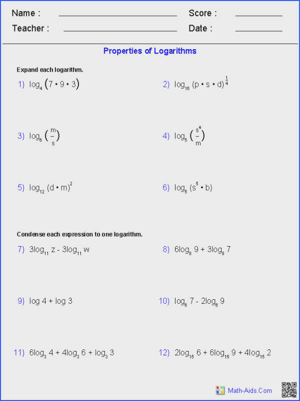 Graphing Absolute Value Functions Worksheet Answers Awesome Properties Logarithms Worksheets Math Collection Graphing Absolute