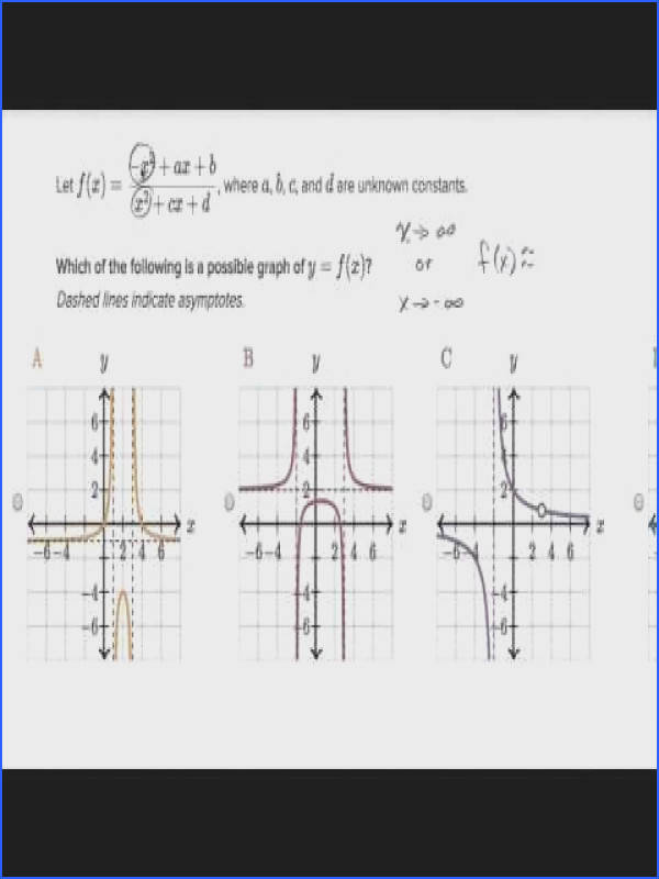 Graphing Rational Functions Worksheet Answers Inspirational Graphs Rational Functions Horizontal asymptote Video