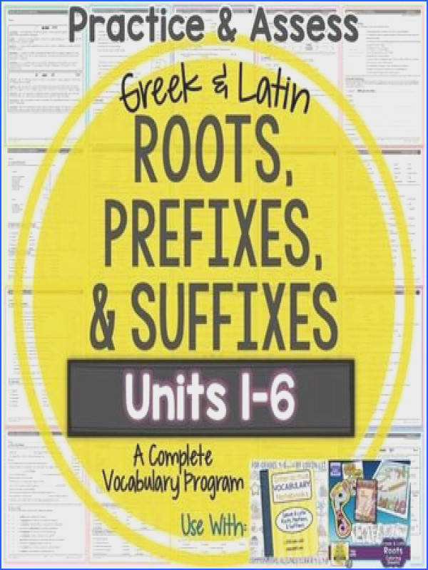 Greek and Latin Roots Greek and Latin Roots Worksheets and TestsPractice and Assess Vocabulary Greek and Latin Roots Prefixes and SuffixesThis Practice