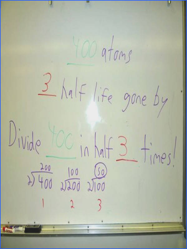 Half Life Example Problems with answers PS Students Unit 5 2 3 2 Pinterest