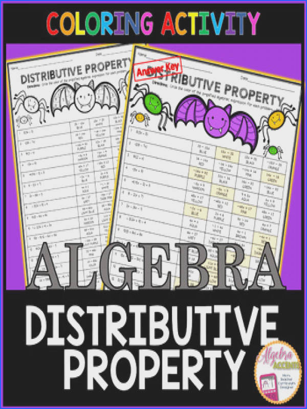 Halloween Algebra Simplifying Expressions using the Distributive Property