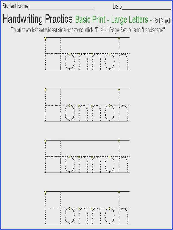 Handwriting Worksheets Print