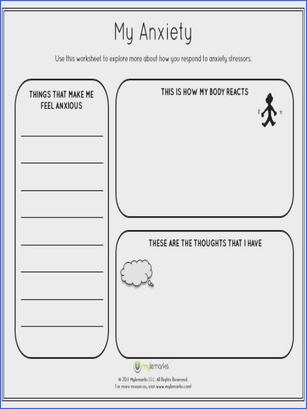 Help children learn about and manage their anxiety with this worksheet by Mylemarks See more