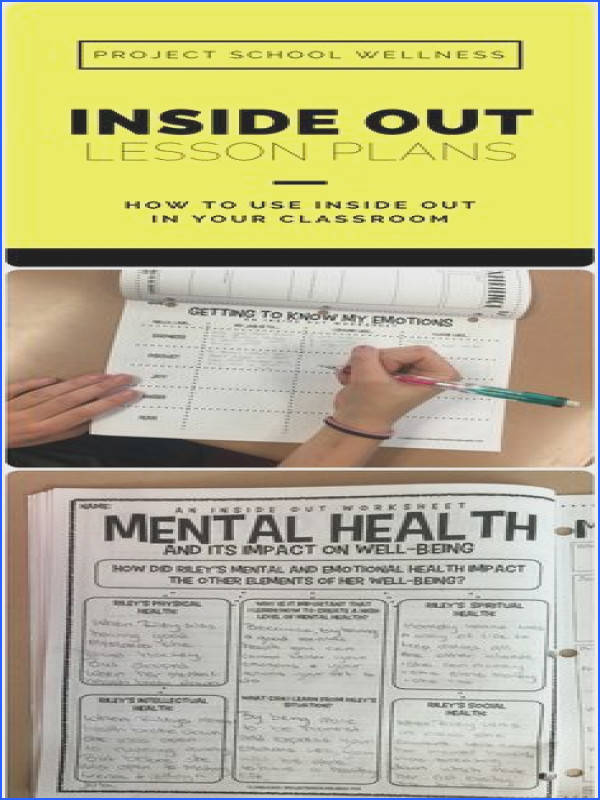 Inside Out Lesson Plans Middle School School Counselor Inside Out Worksheet Health