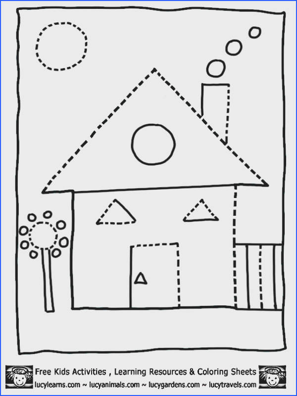 House Shape Coloring Pages Dot To Dots