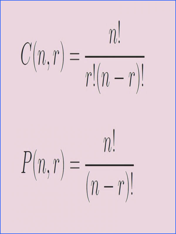 The formulas for binations and permutations