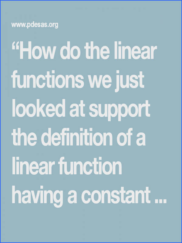 """Linear function · """""""