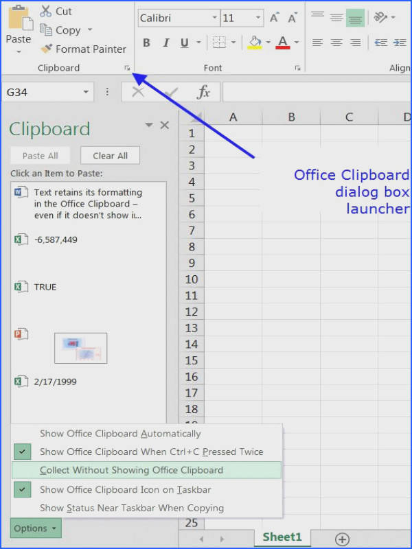 Cut Copy and Paste Data in Excel with the the fice Clipboard