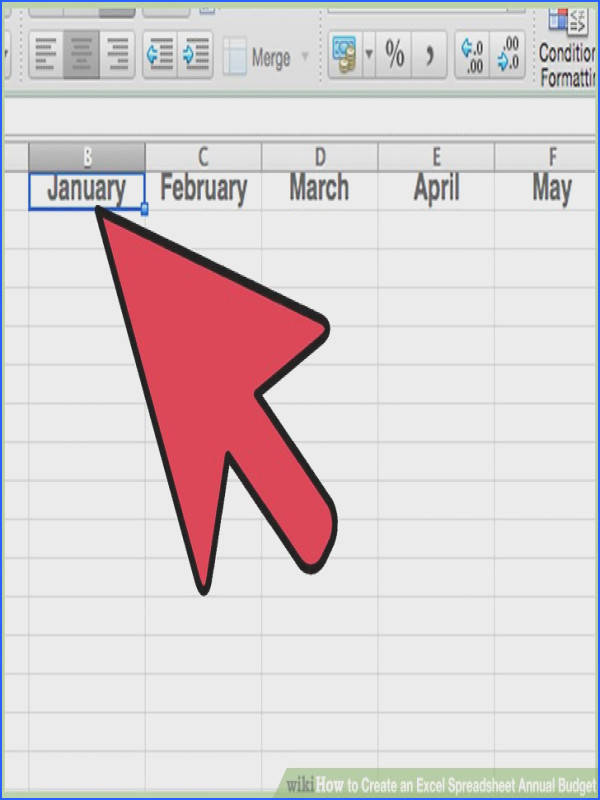 Image titled Create an Excel Spreadsheet Annual Bud Step 10