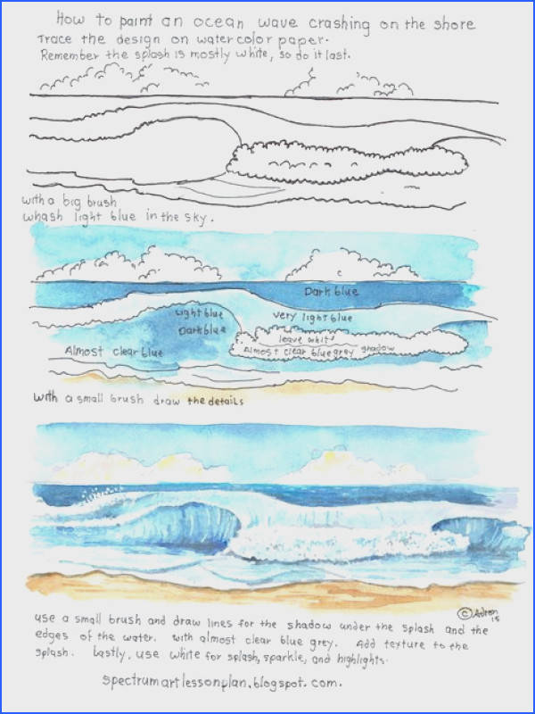 How to Draw Worksheets for The Young Artist Printable How To Draw Ocean Waves Worksheet Learn to Draw Pinterest