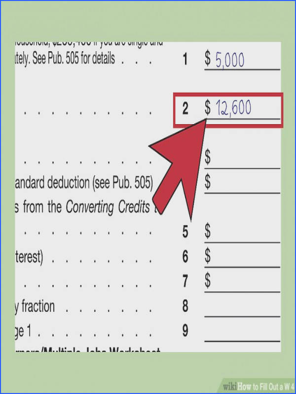 How to Fill Out A W‐4 with Wikihow Image Below Deductions and Adjustments Worksheet