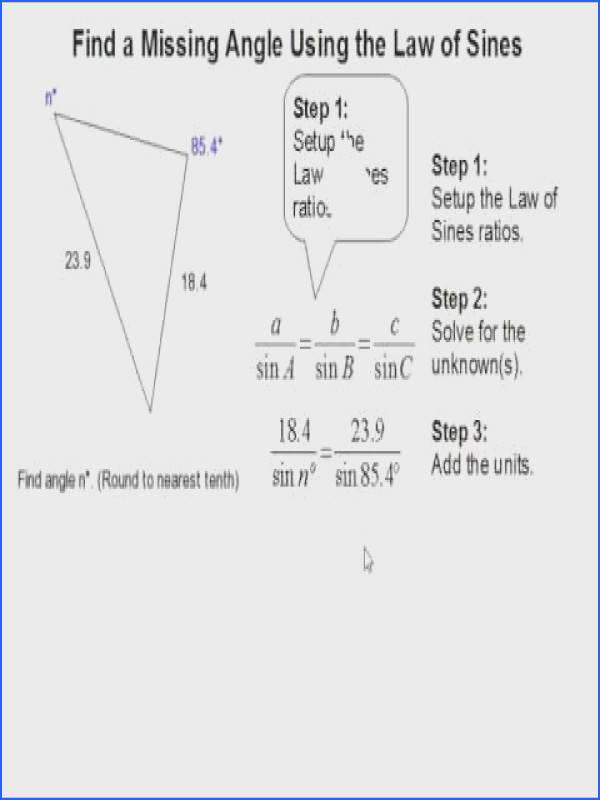 How to Find a Missing Angle Using the Law of Sines