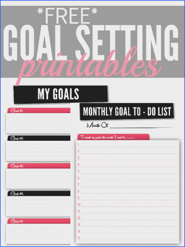 Need some help keeping track of your goals this year These free printables will allow Goal Setting