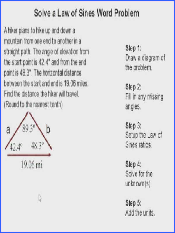 How to Solve a Law of Sines Word Problem