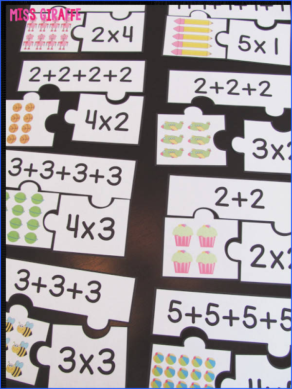 How to Teach Arrays arrays puzzles centers worksheets small group activities