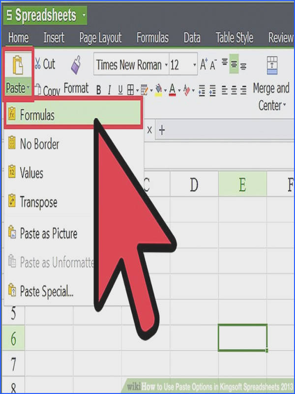 Image titled Use Paste Options in Kingsoft Spreadsheets 2013 Step 1