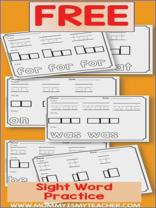 I just printed free sight word worksheets for my homeschool curriculum Great free reading printables Preschool