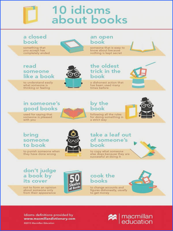 Idioms about books
