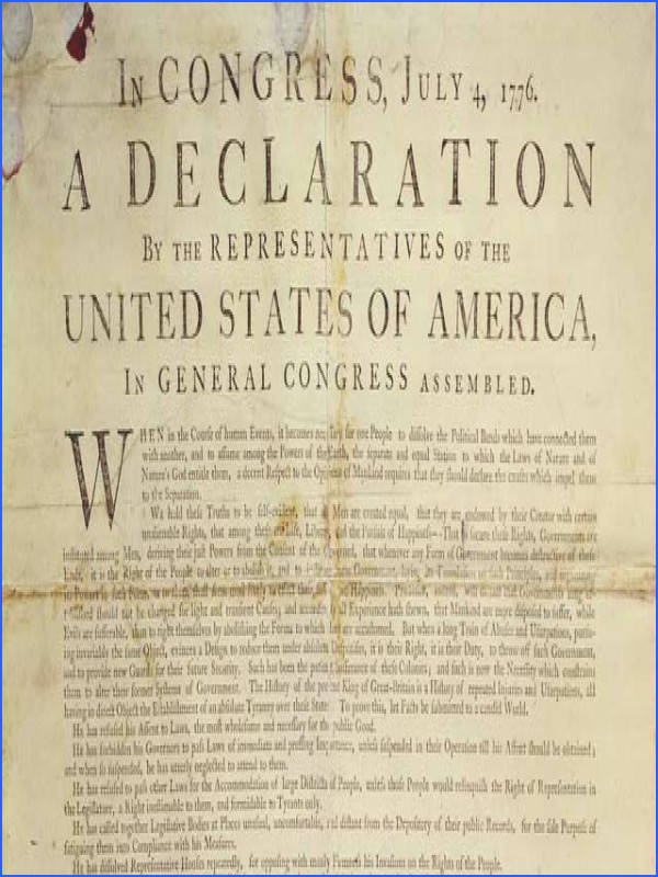 July George Washington orders the Declaration of Independence to be read out loud to members of the Continental Army in New York City for the first time