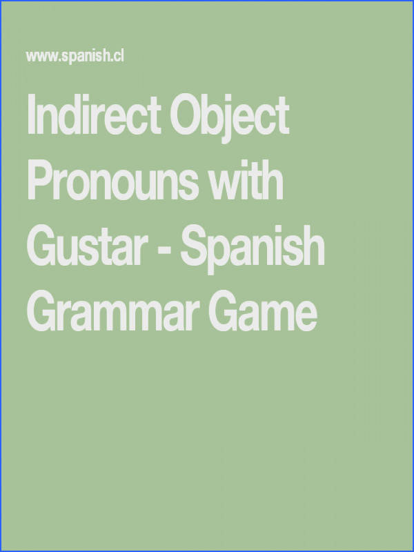 Indirect Object Pronouns with Gustar Spanish Grammar Game