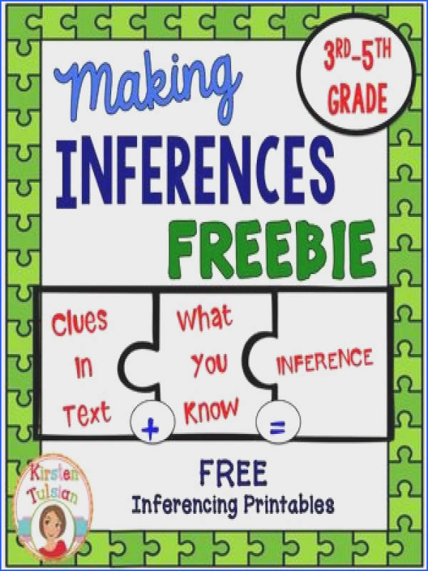 Inference Inferences FREEBIE This inferences FREEBIE product contains THREE sample items from three separate