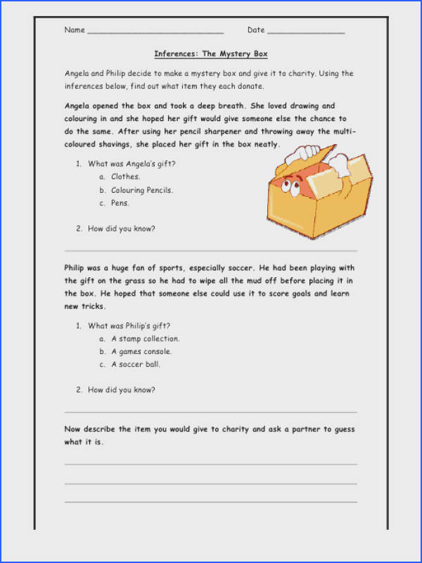 """Making Inferences Worksheet 4Th Grade Free Worksheets Library """"""""sc"""" 1""""st"""" """" Worksheets For All"""