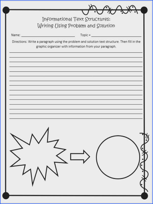 This is a worksheet from the plete 60 page Informational Text Structures unit for 4th and