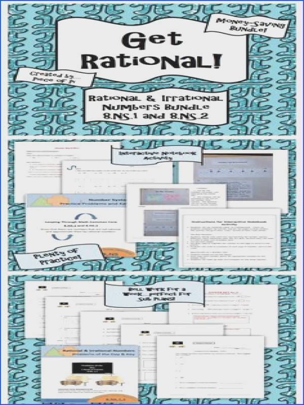 Rational Irrational Numbers 8 NS 1 2 Practice Activities Bundle