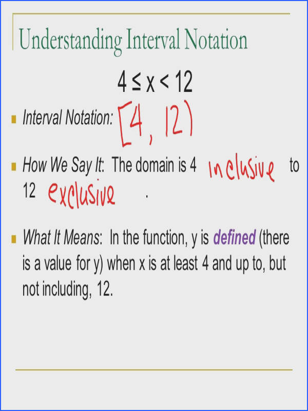 Absolute Value Inequalities · Interval Notation Worksheet Fresh Domain and Interval Notation Ppt Video line Interval Notation Worksheet Elegant