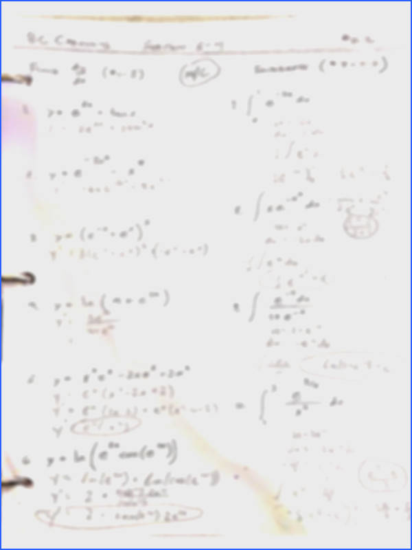 3 pages Natural Logarithm and Trigonometric Integrals Worksheet