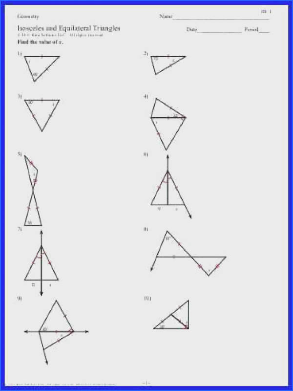 Isosceles And Equilateral Triangles Worksheet 4 6 Isosceles And Equilateral Trianglespdf quality=80