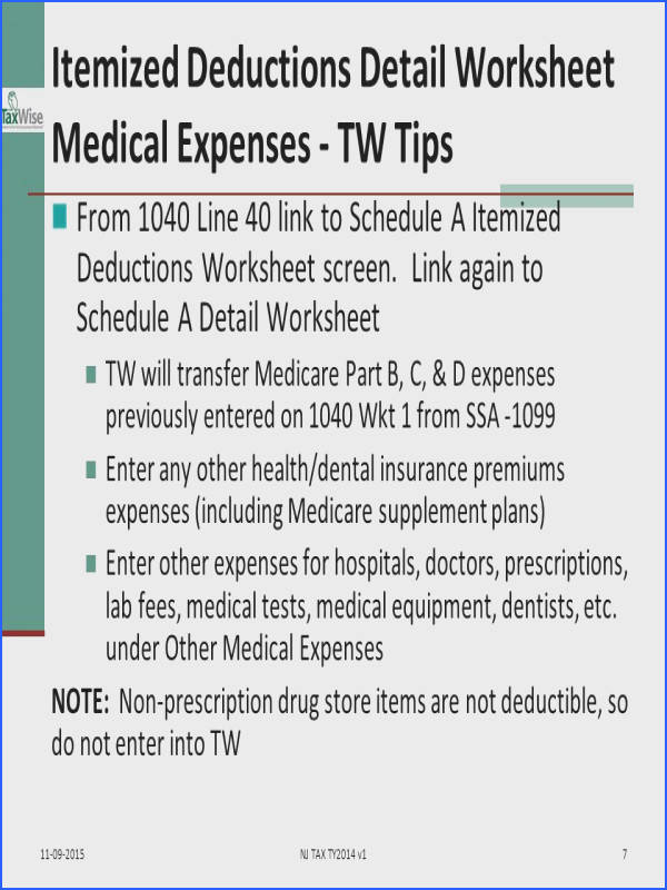 7 Itemized Deductions